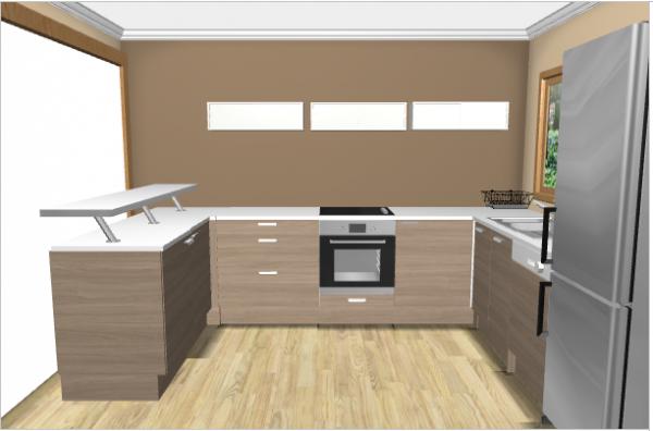 Implantation de la cuisine un reve une vie une maison for Implantation de cuisine
